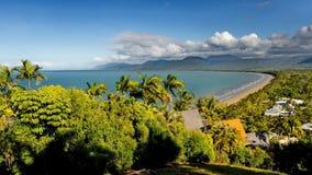 Vista aerea di zona costiera tropicale Immagine Stock