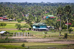 Vista aerea di zona rurale fotografie stock libere da diritti