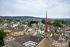 Vista aerea di Zurigo Fotografie Stock