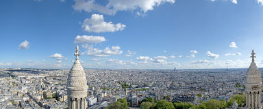 Vista aerea enorme di Parigi da montmatre Immagini Stock Libere da Diritti
