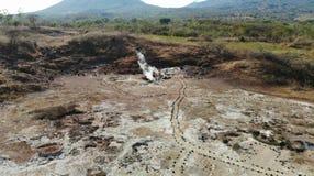 Vista aerea in fuco, fonte di ribollimento, Nicaragua Fotografie Stock Libere da Diritti