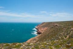 Vista aerea Kalbarri Cliff Coast Fotografia Stock