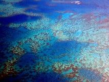 Vista aerea la Grande barriera corallina dal cielo dall'aereo di aria fotografia stock libera da diritti