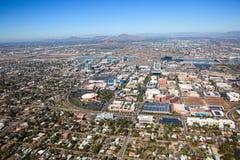 Vista aerea orizzonte di Tempe del centro, Arizona immagini stock libere da diritti