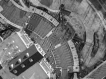 Vista aerea, osservante gi?, le progettazioni geometriche sulla terra immagini stock