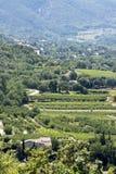 Vista aerea, paesaggio in Europa del sud, verticale Immagine Stock