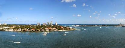 Vista aerea panoramica del Fort Lauderdale Fotografia Stock Libera da Diritti