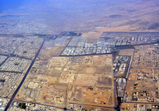 Vista aerea panoramica della città del Dubai Fotografia Stock