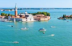 Vista aerea panoramica di Venezia, Italia Fotografie Stock