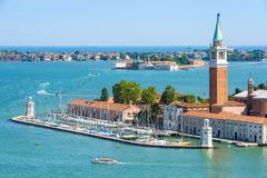 Vista aerea panoramica di Venezia, Italia Immagine Stock Libera da Diritti