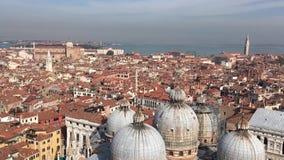 Vista aerea panoramica di Venezia L'Italia europa Panorama di vecchia città stock footage