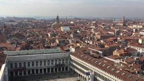 Vista aerea panoramica di Venezia L'Italia europa Panorama di vecchia città video d archivio