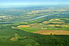 Vista aerea - Polonia centrale Fotografia Stock