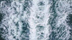Vista aerea: risveglio della barca video d archivio