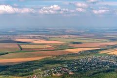 Vista aerea rurale della valle del campo Fotografia Stock