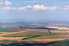 Vista aerea rurale della valle del campo Immagine Stock