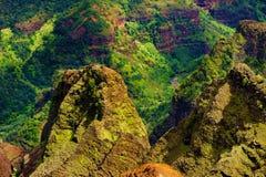 Vista aerea sbalorditiva nel canyon di Waimea Immagini Stock