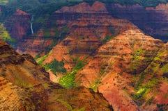 Vista aerea sbalorditiva nel canyon di Waimea Fotografia Stock