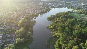 Vista aerea sopra i laghi archivi video
