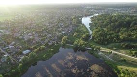 Vista aerea sopra i laghi stock footage