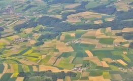 Vista aerea sopra i villaggi fotografie stock