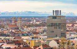 Vista aerea sopra la città di Monaco di Baviera Immagine Stock Libera da Diritti
