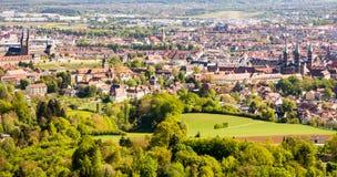 Vista aerea sopra la città di Bamberga Immagine Stock Libera da Diritti