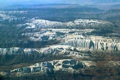 Vista aerea sopra le montagne di Zagros, Iran Fotografie Stock Libere da Diritti
