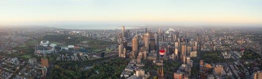 Vista aerea sopra Melbourne Fotografia Stock Libera da Diritti
