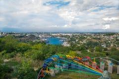Vista aerea sopra Sebastopoli Baia del mare, navi Fotografie Stock