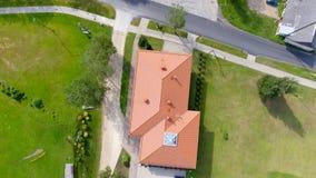 Vista aerea sopraelevata delle case della campagna Fotografia Stock Libera da Diritti