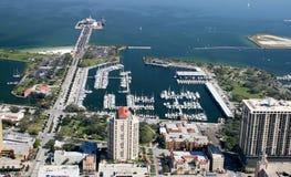 Vista aerea St Petersburg del centro, Florida Fotografia Stock