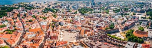 Vista aerea stupefacente di Tallinn immagine stock libera da diritti