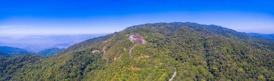 Vista aerea su Doi Inthanon il più alta montagna in Chiang Mai Fotografie Stock Libere da Diritti