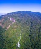 Vista aerea su Doi Inthanon il più alta montagna in Chiang Mai Fotografia Stock Libera da Diritti