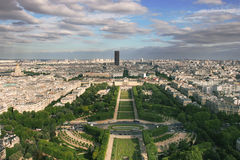 Vista aerea su Parigi. Immagini Stock