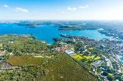 Vista aerea su Sydney, virile e su Parramatta Immagini Stock Libere da Diritti