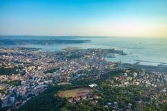 Vista aerea su Trieste Fotografie Stock