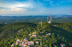 Vista aerea su Trieste Fotografie Stock Libere da Diritti