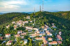 Vista aerea su Trieste Fotografia Stock Libera da Diritti
