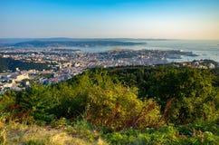 Vista aerea su Trieste Immagine Stock