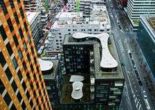 Vista aerea su Zuidas Amsterdam Fotografie Stock