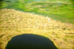 Vista aerea sui paesaggi del nord di Yakutia fotografia stock libera da diritti