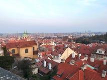 Vista aerea sui tetti rossi fotografia stock