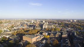 Vista aerea sul centro di Den Bosch fotografie stock
