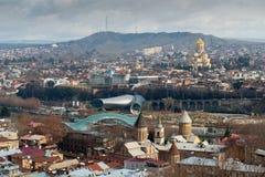 Vista aerea sul centro di Tbilisi Fotografie Stock Libere da Diritti