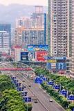 Vista aerea sul centro urbano di Xiamen, Cina Immagine Stock Libera da Diritti