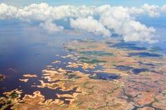 Vista aerea sul fiume di Orinoco Fotografie Stock Libere da Diritti