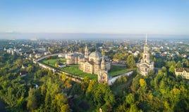 Vista aerea sul monastero in Toržok, Russia Fotografia Stock Libera da Diritti