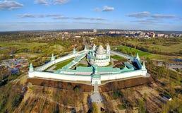 Vista aerea sul nuovo monastero di Gerusalemme in Istra fotografie stock